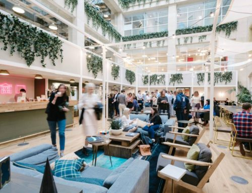 The world's largest open space inaugurated in London by WeWork for HSBC