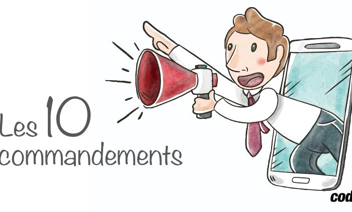 dix commandement bien etre travail